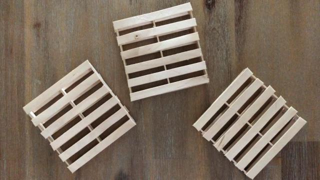 Wooden Pallet Coasters