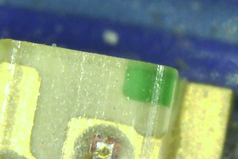 arduino led at high magnification