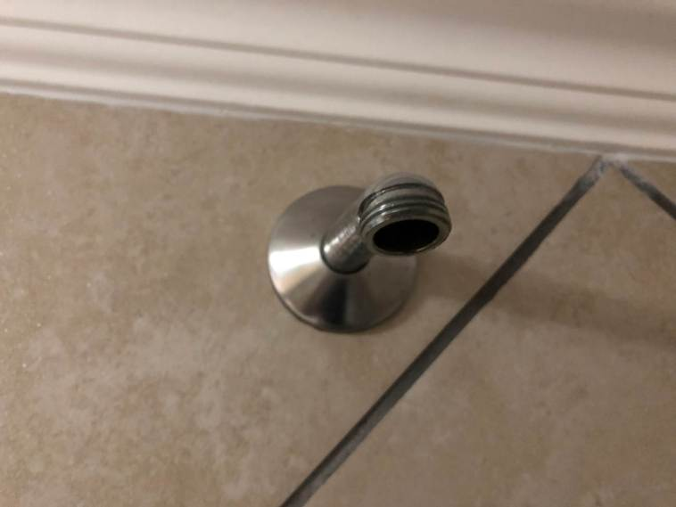 Shower Spout With Old Rose Removed