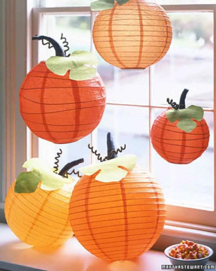 Floating Pumpkin Lanterns