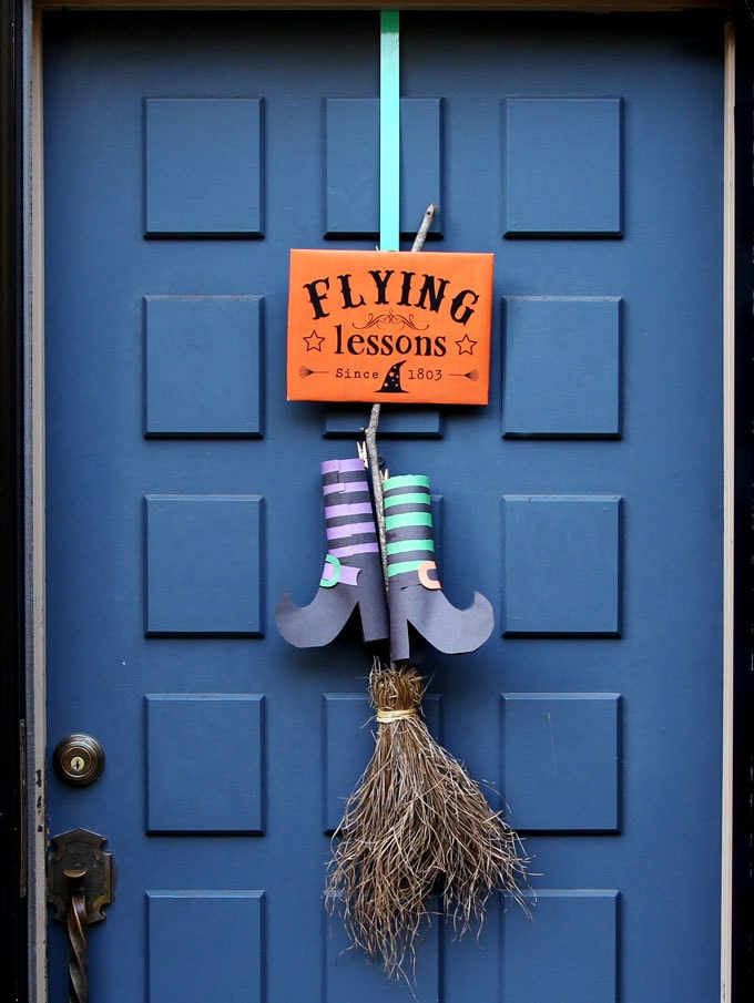 Halloween Witches Broomsticks