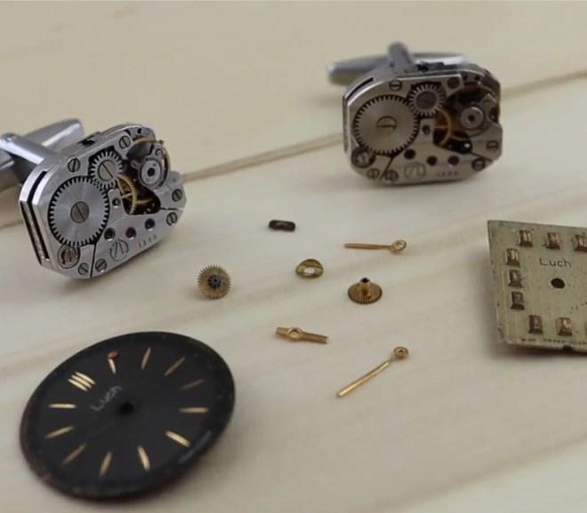 Make Your Own Mechanical Watch Movement Cufflinks
