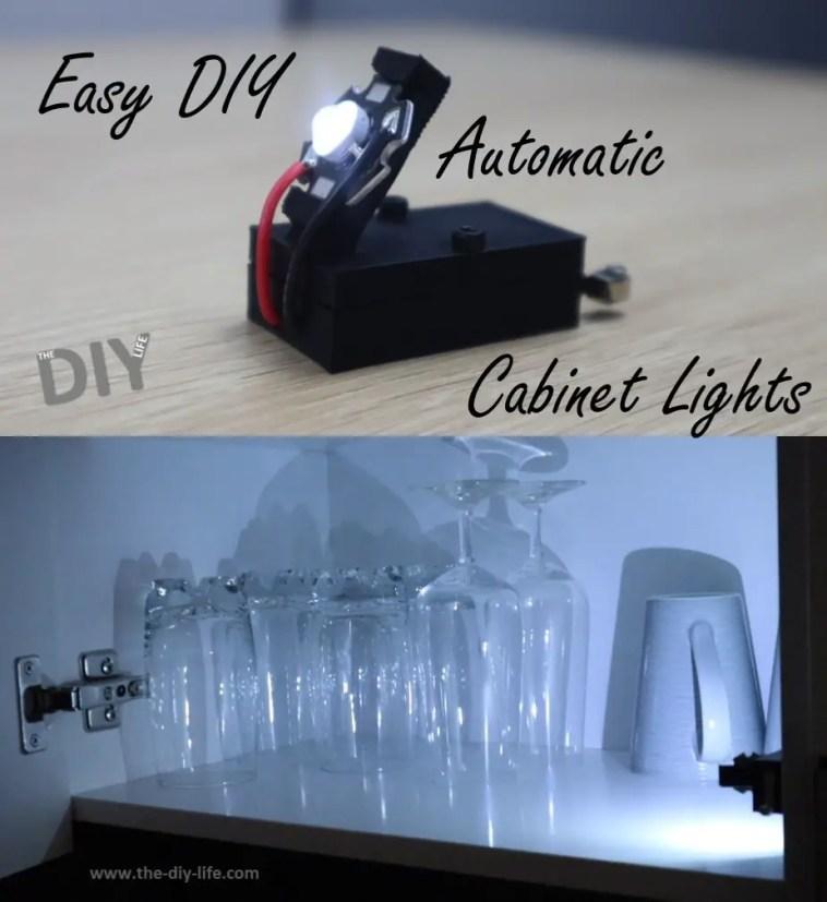 Easy DIY Automatic Cabinet Light - Pinterest