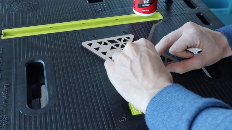 Gluing In The Vertical Supports