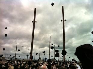 Yardmen walk - throwing hats
