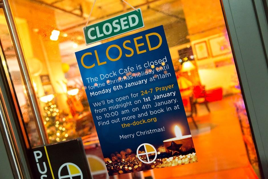 Closed christmas