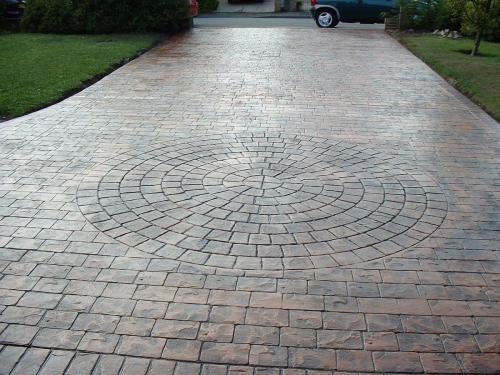 Pattern Imprinted Concrete Drives