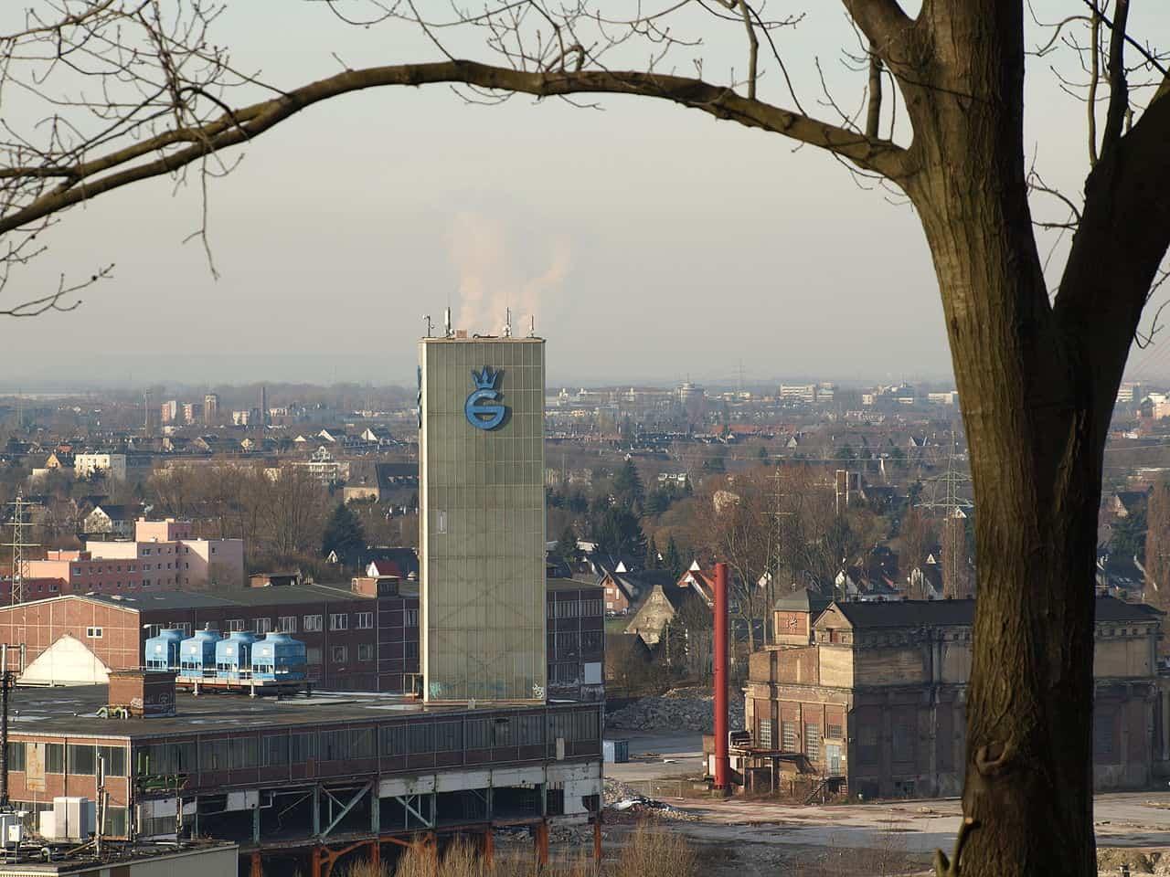 Blick auf das Gelände der Gerresheim Glashütte (Foto: via Wikimedia)