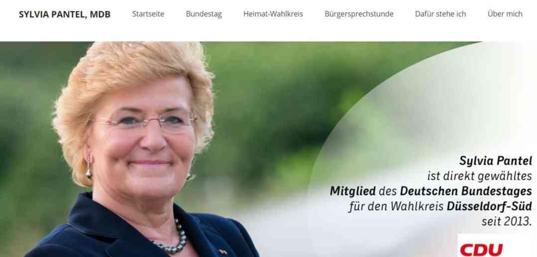 So präsentiert sich die rechtskonservative Sylvia Pantel auf ihrer Website