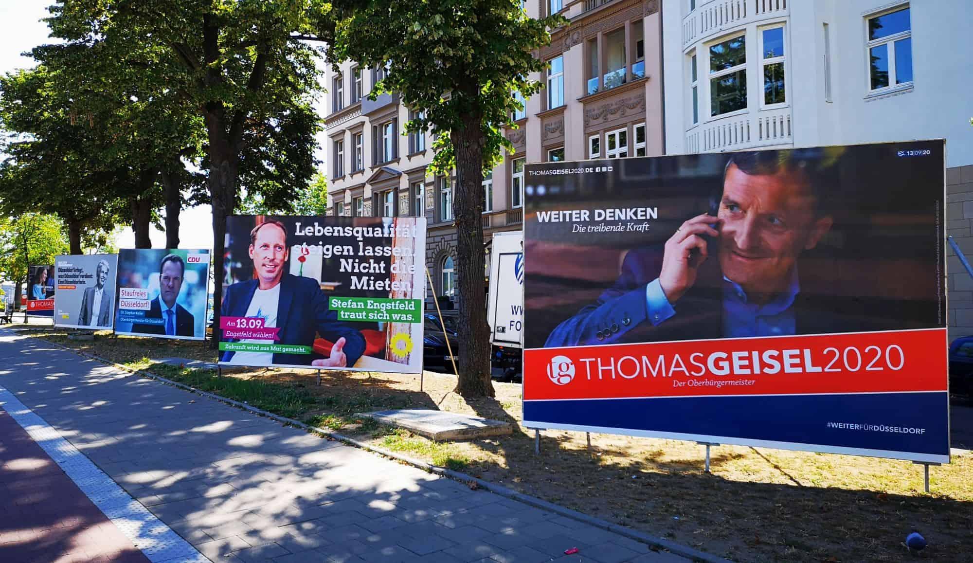 OB-Wahl 2020: Alles bloß Sprüche - hier am Luegplatz (eigenes Foto)