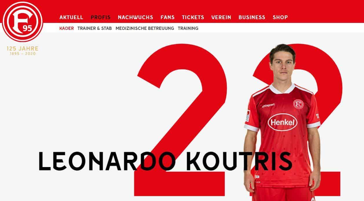 Leonardo Koutris - großer Hoffnungsträger bei der Fortuna