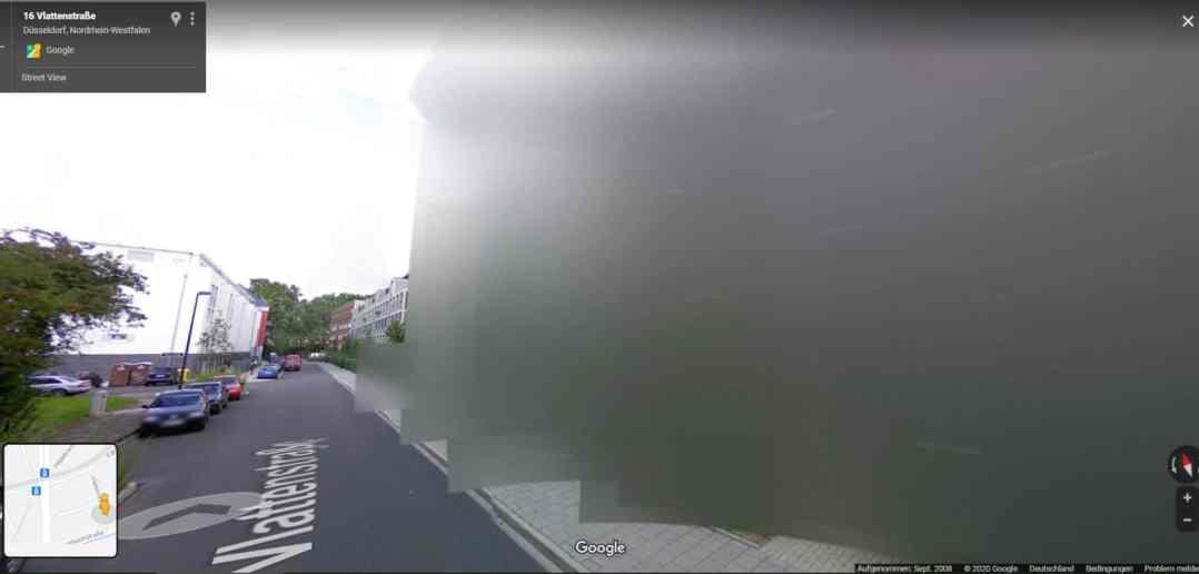 Google Streetview: Vlattenstraße, Stand: September 2008 (Screenshot)