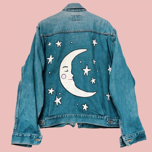 Denim Jacket Starry Starry Night