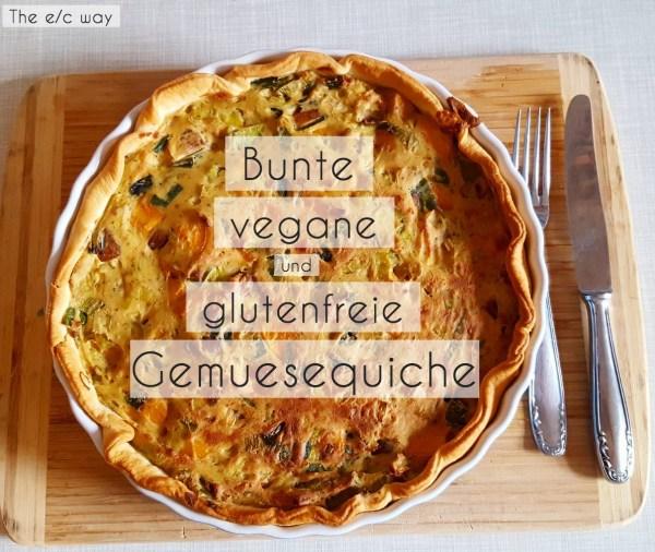 Bunte vegane Quiche mit extra viel Gemüse