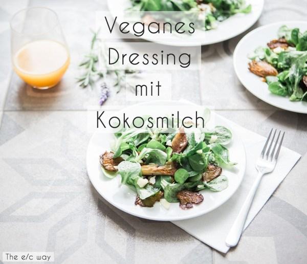 Veganes Salatdressing mit Kokosmilch