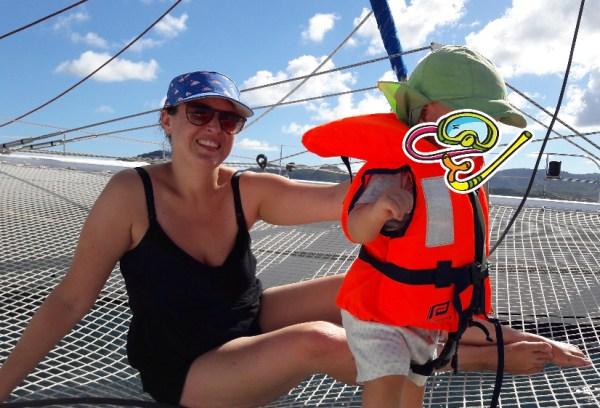 Eine Bootsfahrt, die ist lustig. Und vom Boot aus, gehen wir dann baden auf Martinique