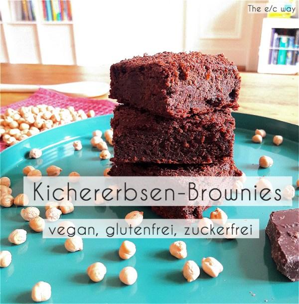 Glutenfreie, zuckerfreie und vegane Schokoladen-Brownies aus Kichererbsen