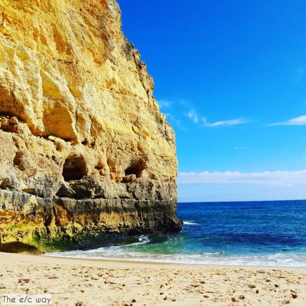 Unser kleiner Privatstrand beim Praia de Vale Centeanes an der Algarve in Portugal