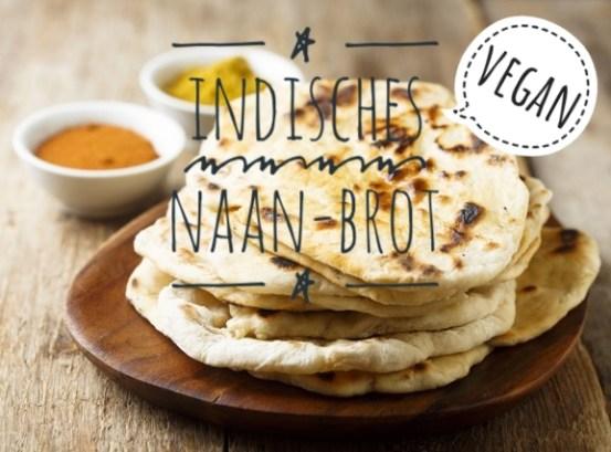 Veganes Naan-Brot