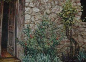 בית בטוסקנה שמן על בד אוסף פרטי 50-70