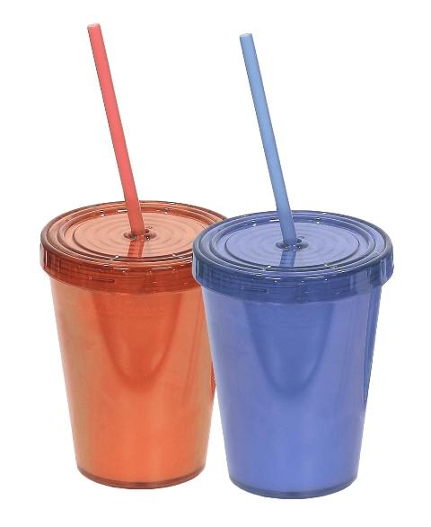 כוסות שתיה כולל מכסה וקש 9שח ברשת הסטוק