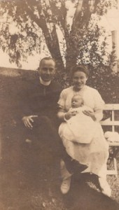 My great-grandparents holding my grandfather on his blessing day