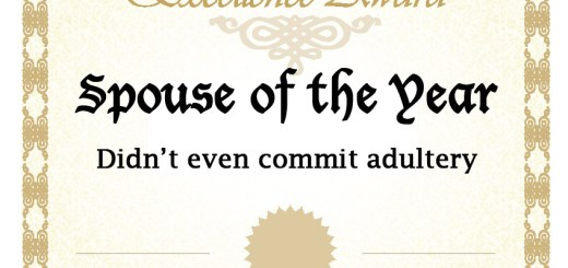 Spouse of the Year: Didn't even commit adultery
