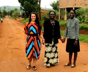 (Right to left) Melissa Sevy, Harriet Ochieng, and Tina Kyambadde of Musana Jewelry