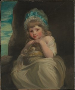 A Girl with basket of birds