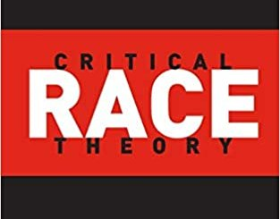 Image of book cover, black background and red strips. The words Third Edition are at the top, followed by Richard Delgado and Jean Stefancic. Under that is Critical Race Theory: An Introduction. Foreword by Angela Harris.