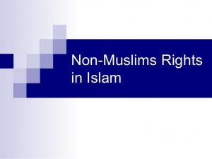 Rights of non-Muslims in Islam