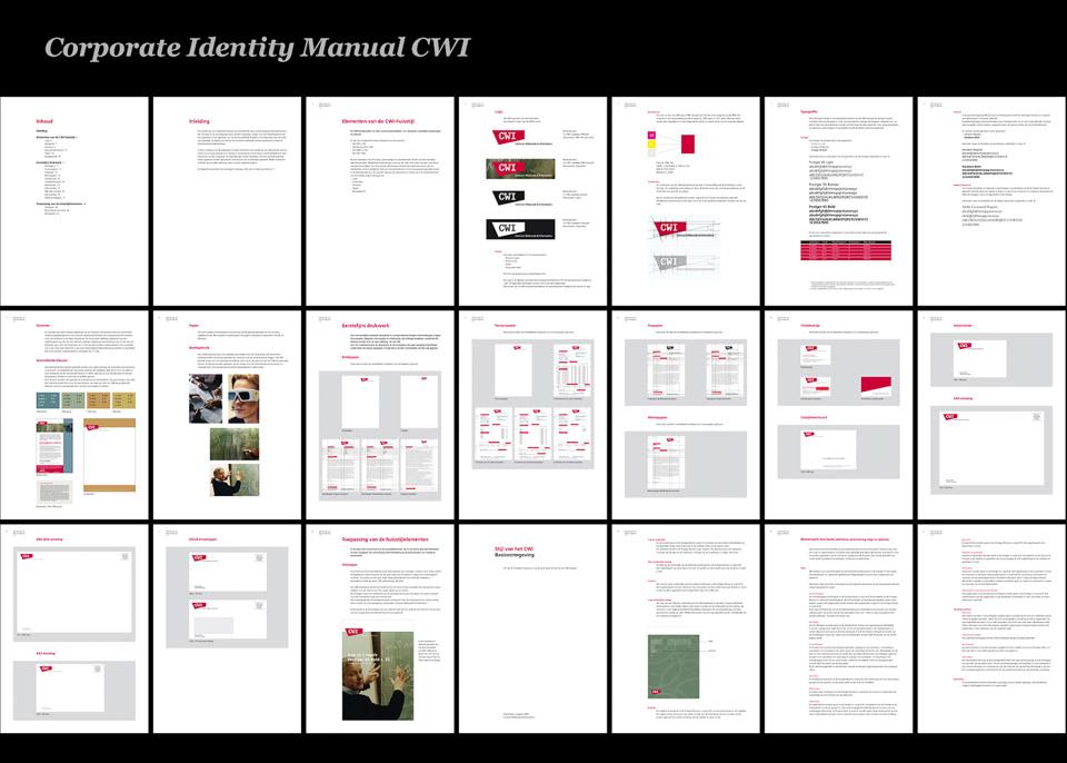 CWI huisstijl manual