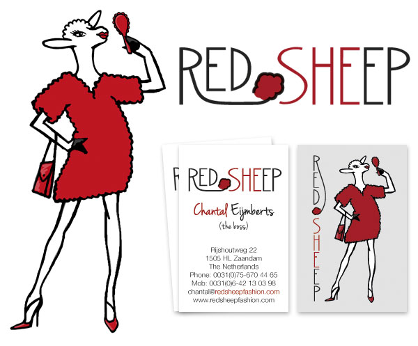 Red Sheep logo en visitekaartje