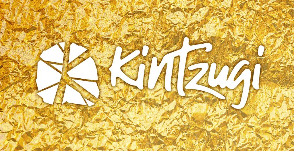 Kinzugi gold logo brand