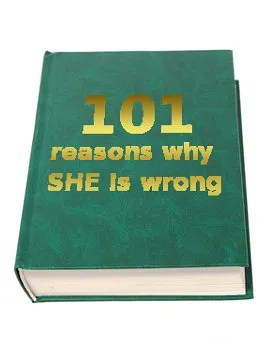 Book: 101 reasons why she is wrong © Viacheslav Krisanov | Dreamstime.com