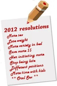 List of sex resolutions for 2012 © Alain Lacroix | Dreamstime.com