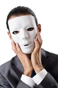 Man hiding behind a mask © Elnur Amikishiyev | Dreamstime.com