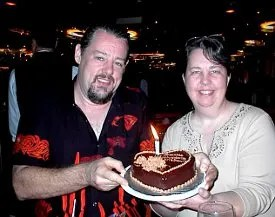 Paul and Lori with cake © Paul H. Byerly