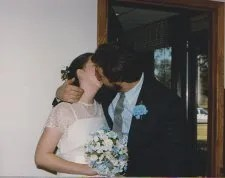 Paul and Lori kissing © Paul H. Byerly