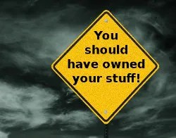 You should have owned your stuff! © Arnel Manalang | Dreamstime.com