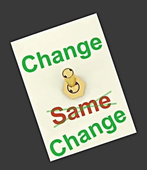 Change or change? © Stuart Miles | freedigitalphotos.net