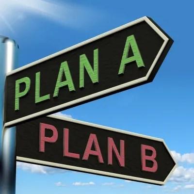 Plan A & Plan B © Stuart Miles | freedigitalphotos.net