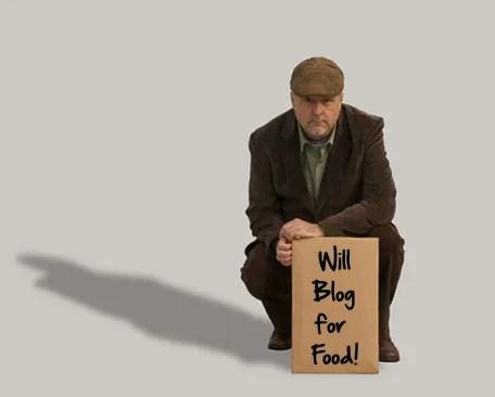Will blog for food!  © Rmaclochlainn | Dreamstime.com