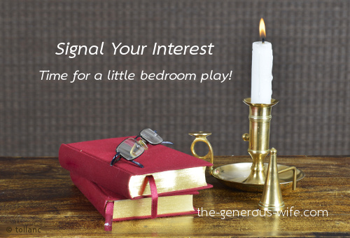 Signal Your Interest - Time for a little bedroom play!