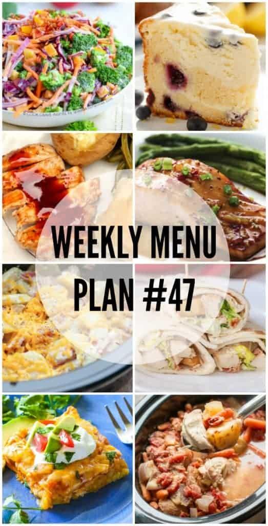 Weekly Menu Plan #47