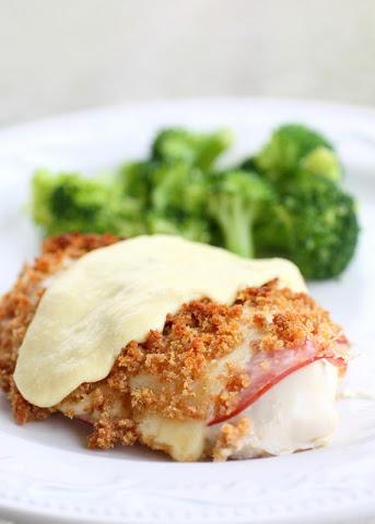 Chicken Cordon Bleu with Dijon Cream Sauce