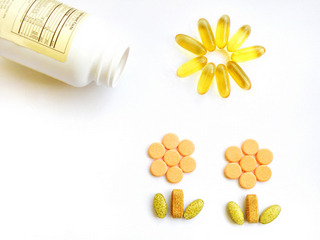 Sunshine and flowers made with vitamins