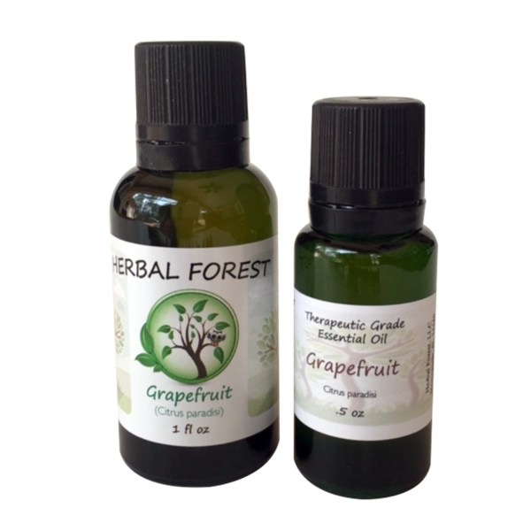 image of Herbal Forest grapefruit essential oil 1 oz and .5 oz