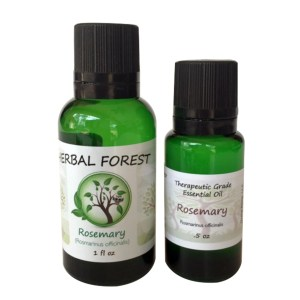 image of Herbal Forest rosemary essential oil 1 oz and .5 oz