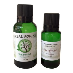 image of Herbal Forest spearmint essential oil 1 oz and .5 oz